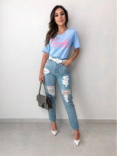 T-shirt Touche Azul Tumblr Outfits, Edgy Outfits, Fashion Outfits, Fashionable Outfits, Autumn Fashion Grunge, Love Fashion, Fashion Looks, Corporate Fashion, Casual Looks