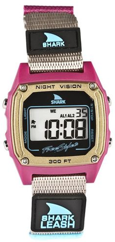 Freestyle Shark 88 Watch - Grey / Berry / Turquoise on Surfboards Etc. I want! Miss my old Shark Watch