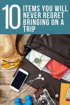 10 Items You Will Never Regret Bringing on a Trip. Travel Tips. Don't suffer from packer's remorse: These travel items should always have a place in your bag. Vacation Packing, Packing Tips For Travel, Travel Advice, Travel Essentials, Travel Guide, Travel Hacks, Packing Lists, Travel Deals, Travel Destinations