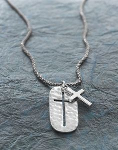Symbol of Strength Cross Necklace  Have faith in yourself and your style. Sterling Silver Silpada Designs