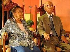 Claudomiro Fonseca com a esposa Esmeralda.