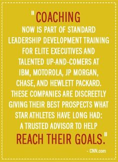 Coaching... if Executives need it to perform at their best, the rest of us need it too.  www.NextGenCounseling.com