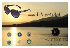 """Match your shades with your outfit in just a snap! shop at www.mymagnoliaandvine.ca/ROBBIKIRK/ and contact Roberta Kirk at www.facebook.com/mymagnoliaandvinerobbikirk """"Magnolia and Vine Sunglasses by Roberta Kirk"""" by magnoliaandvine on Polyvore"""