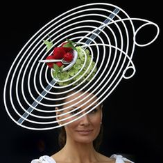 English Summer Hat worn by Isabella Christensen on Ladies' Day at The Royal Ascot. #Royal_Ascot #Isabella_Christensen