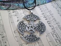 Celtic Pentagram Necklace, wiccan jewelry pagan jewelry druid witch witchcraft magic mystic metaphysical gypsy wicca pentacle