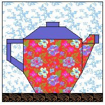Here is a printable paper foundation pieced block: http://www.equilters.com/library/PFP/n_teapot2.htm
