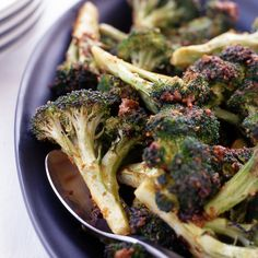 Roasted Broccoli with Ancho Butter | The ancho butter adds terrific heat.