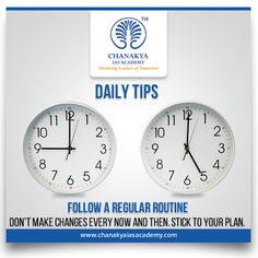 #DailyTips Follow A Regular Routine Don't make changes every now and then. Stick to your plan.