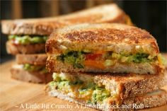 A Little Bit Crunchy A Little Bit Rock and Roll: Guacamole Grilled Cheese