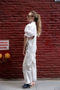 Introducing the deceivingly versatile dirndl top: http://www.manrepeller.com/2015/07/how-to-style-white-summer-blouses.html