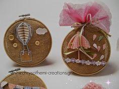 Vintage υπέροχη μπομπονιερα βαπτισης για αγορι η κοριτσάκι σε τελάρο κεντήματος!! οτι πιο τελειο!! Hot Air Balloon, Nursery Room, Balloons, Projects To Try, Room Decor, Easter, Christmas Ornaments, Holiday Decor, Kids