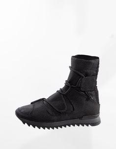"DEMOBAZA > ""Cyber Clogs B"" Hi Top Sneakers"