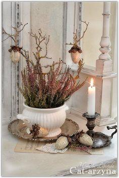 soup tureen as planter or arrangement - good idea