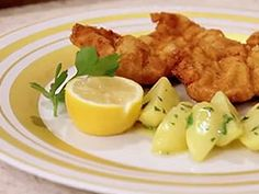 Vicking Cruise Lines recipe - Wiener Schnitzel with Parsley Butter Potatoes including a how to video!