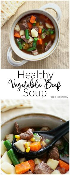 Healthy Vegetable Beef Soup--can be adapted for the slow cooker or crock pot