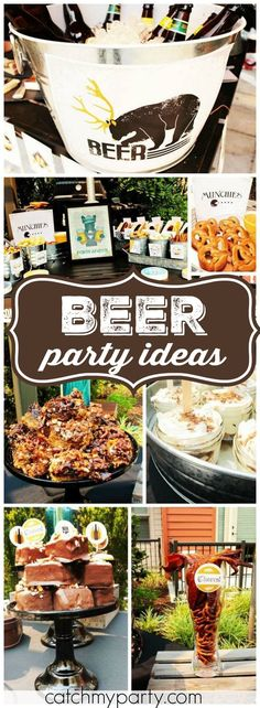 [original_tittle] – Feierlichkeiten [pin_tittle] This beer themed birthday has lots of manly details! See more party ideas a… – Kullen's Dirty 30 – Man 30th Birthday Ideas, Husband 30th Birthday, Beer Birthday Party, 30th Birthday Parties, Man Birthday, 30th Party, Birthday Crafts, Birthday Nails, Happy Birthday