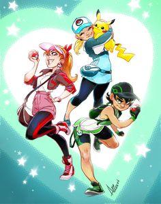 The Powerpuff girls as Pokémon catchers. Art Sonic, Power Puff Girls Z, Super Nana, Character Art, Character Design, Powerpuff Girls Wallpaper, Ppg And Rrb, Cartoon Crossovers, Disney Fan Art