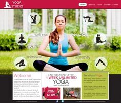 Yoga website Designing needs careful inspirational thinking and planning. - http://www.mybeststudio.com/website-designs.php