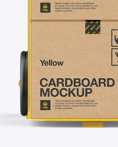Hand Truck With Boxes Mockup – Front View