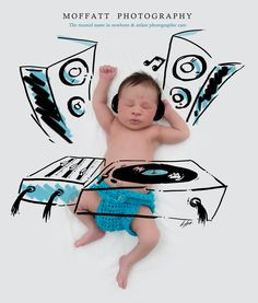 DJ Cuteness, Baby Art.  By Moffatt Photography
