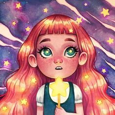 Another challenge! I love this character so much 💖 . Art And Illustration, Illustrations, Fanart, Cute Pins, Mixed Media Artists, Kids Decor, Disney Characters, Fictional Characters, Watercolor