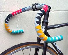 Jim Langley's Bicycle Beat: BIKE REPAIR: Not Gift Wrapping - Bar Wrapping