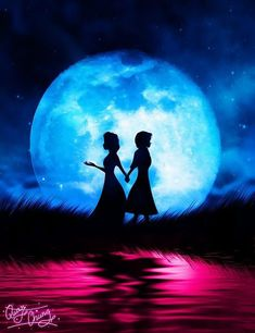 Anna & Elsa (Silhouettes by MrQuanChung @Facebook) #Frozen