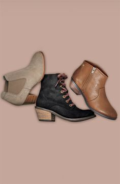 DV by Dolce Vita Pull-on Ankle Boot, Lace-up Ankle Boot, & ALDO 'Montecristi' Boot #Nordstrom #AugustCatalog