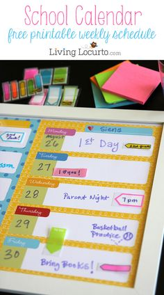 Get organized for the school week with these Free Printable Weekly Calendars.