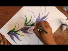 One Stroke Painting Tutorial- Tips For Beginners + Sliding Leaf Stroke Composition - YouTube