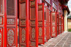 Red doors in Hue's Imperial City (Citadel), Vietnam Royalty Free Images, Hue, Vietnam, Windows, Stock Photos, Red Doors, City, Building, Outdoor Decor