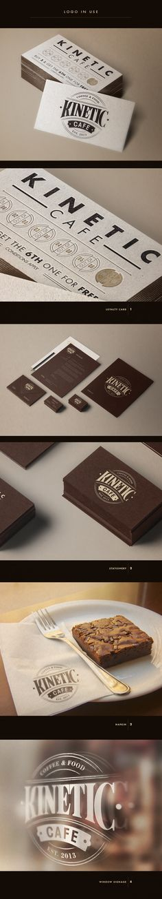 Kinetic Cafe Logo Design and Branding by Aurelie Maron, via Behance