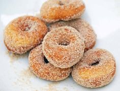Cinnamon protein donuts: #fall #protein #easy  Ingredients Donut: 1 cup vanilla whey protein powder ¼ cup coconut flour  1 teaspoon baking powder  ⅔ cup unsweetened applesauce  dash nutmeg dash cinnamon Coat