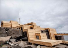 Not quite #homedesign, but this sauna building in Norway hugs the rocks it was built on and and integrates well with the coastline. http://www.dezeen.com/2015/06/24/the-bands-sauna-terrace-lofoten-norway-architecture-students/?utm_content=buffer6610f&utm_medium=social&utm_source=pinterest.com&utm_campaign=buffer