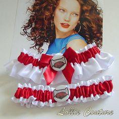 Unique wedding Garters custom theme garters by lolliecouture