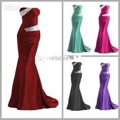 Wholesale Hot Sale Bridesmaid Dresses High Quality Real Image Beaded Mermaid Formal Occasion Dresses LFC035