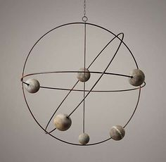 contemporary mobiles by Restoration Hardware Baby & Child Baby Boy Nursery Themes, Baby Boy Nurseries, Nursery Ideas, Nursery Decor, Mobiles Art, Solar System Mobile, Outer Space Nursery, Restoration Hardware Baby, Kid Spaces