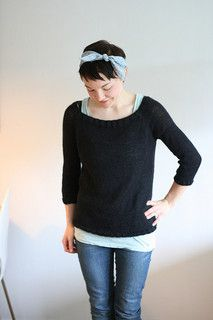 This sweater is worked top down. Simple and beautiful.