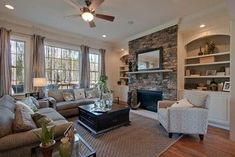 Pretty Living Room   Simple Mirror Over Fireplace John Wieland Homes    Mayer   Traditional