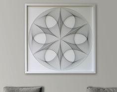 Wall Art Custom String Art Mandala in Cinnomon by FeniksArtDeco