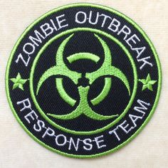 Zombie Outbreak Logo Iron On Patch Girl Scout Sash, Girl Scouts, Merit Badge, Morale Patch, Needle And Thread, Iron On Patches, Sewing, Handmade Gifts, Fabric