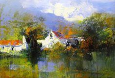 Paarl by DERRIC VAN RENSBURG Acrylic on Canvas 90x60cm