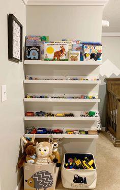 How To Organize Hot Wheels & Matchbox Cars - Organization Obsessed Hot Wheels Storage, Kid Toy Storage, Playroom Storage, Matchbox Car Storage, Matchbox Cars, Laundry Room Organization, Organization Hacks, Organization Ideas, Camper Cushions
