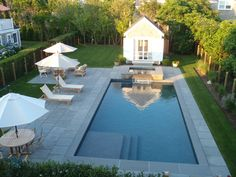 blue stone pool patio - Google Search