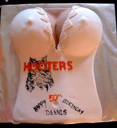 Hooters cake By prairiedog on CakeCentral.com