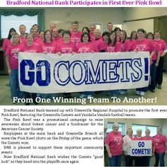 Bradford National Bank Participates in the Pink Bowl