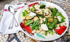 Courgette, yoghurt and runner bean salad recipe | Angela Hartnett | Life and style | The Guardian
