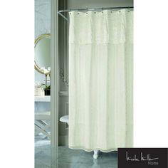 Nicole Miller Sparkle Fabric Shower Curtain