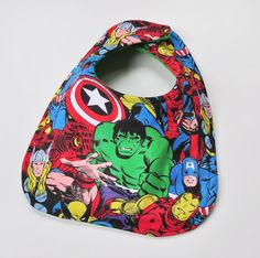 Baby Bib - Super Heros Comics Marvel Bib - Baby Boy Bib or Baby Girl Bib, Infant Bib, Feeding Bib, Baby Shower Gift on Etsy, $4.25