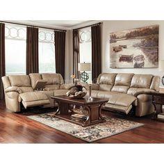 Lenoris Caramel Reclining Living Room Set